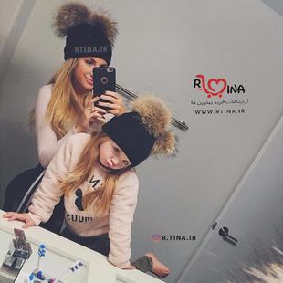 کلاه بافت دخترانه و زنانه دو پوم