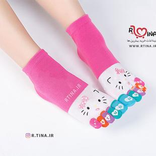 جوراب انگشتی زنانه و دخترانه رنگی طرح چشم