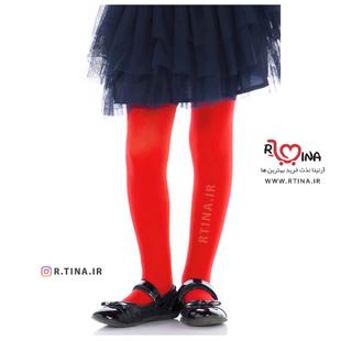 جوراب شلواری ساده قرمز دخترانه