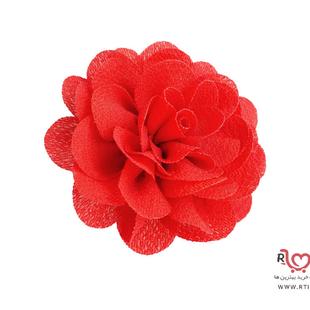 کش و گیره گل حریر قرمز