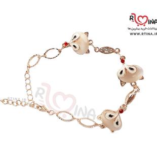 دستبند اسپرت زنانه طرح روباه رزگلد