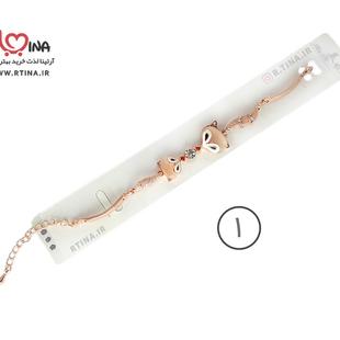 دستبند مدرن زنانه روباه رزگلد