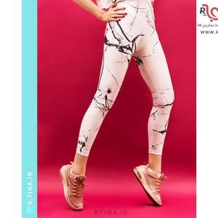 شلوار لگ براق طرحدار زنانه رگه دار مدل آپا 7