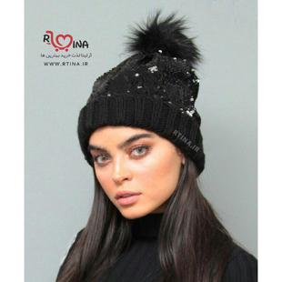 کلاه بافت مشکی زنانه