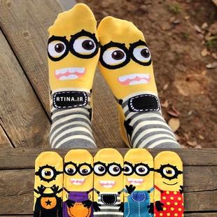 جوراب فانتزی طرح کارتونی مینیون Minions