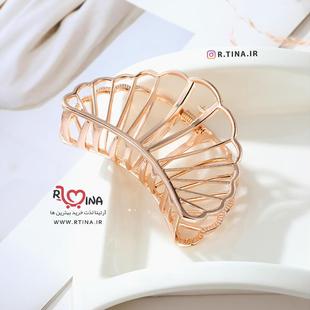 کلیپس مو فلزی مینیمال مدل صدف دریایی