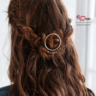 گیره مو زنانه حلقه ای طلایی