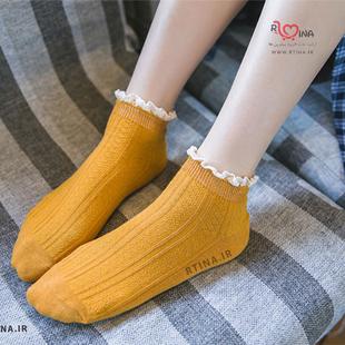 مدل جوراب خردلی ساده