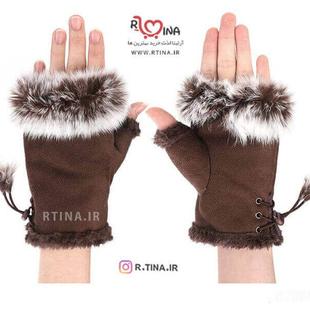 دستکش خز دار دخترانه شیک