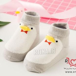 جوراب بچه گانه فانتزی مدل جوجه اردک