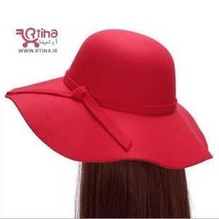 کلاه لبه دار زنانه قرمز