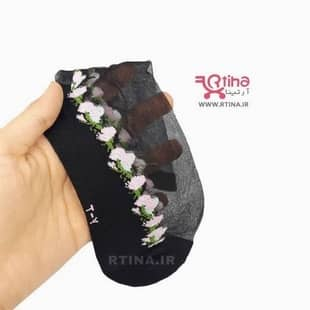 جوراب شیشه ای طرح شکوفه