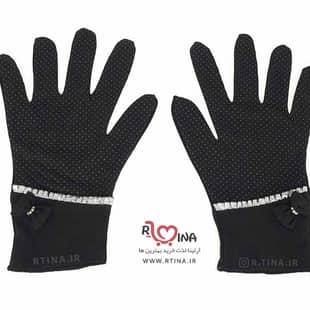 دستکش زنانه نوار دار  کد s105