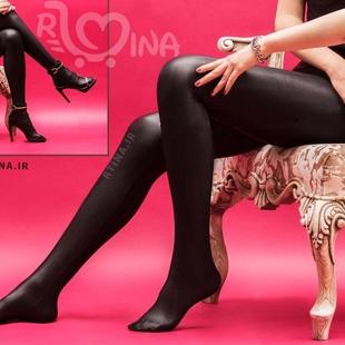 جوراب شلواری غواصی فوق براق مشکی