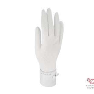 مدل دستکش زنانه طرح دار نخی