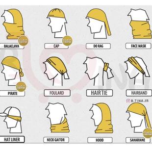 دستمال سر را چگونه ببندیم