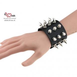 دستبند چرمی چوکر مدل اسپایک