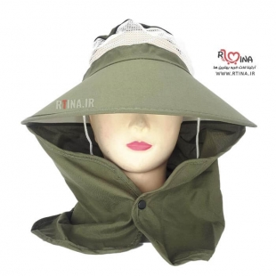 مدل کلاه آفتابی نقاب دار توری دار