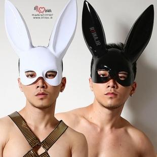 خرید ماسک خرگوش سفید و مشکی خاص