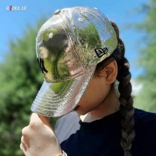 کلاه کپ هولوگرامی دخترانه و پسرانه طرح چروک