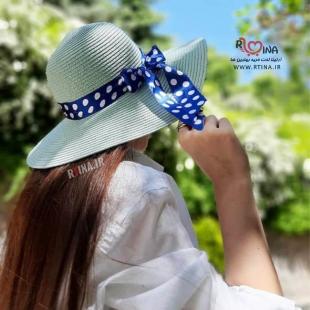 کلاه ساحلی زنانه مدل پاپیون دار