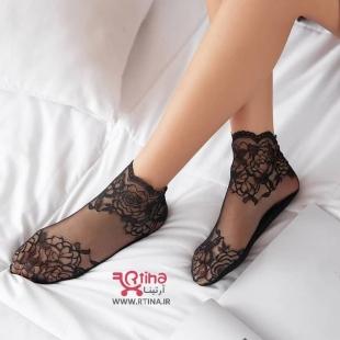 جوراب نازک مجلسی زنانه طرحدار مدل FADIS