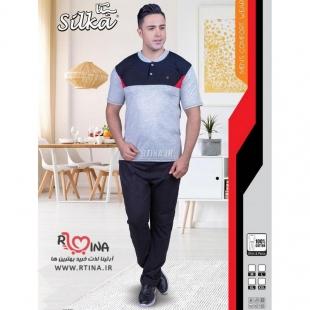 ست لباس مردانه اسپرت با شلوار مشکی کد224