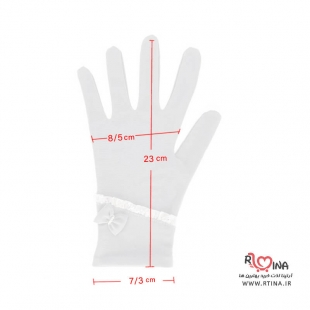 دستکش نخی زنانه طرح دار  کد S110