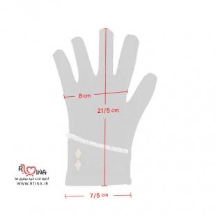 دستکش دخترانه طرحدار کد s107