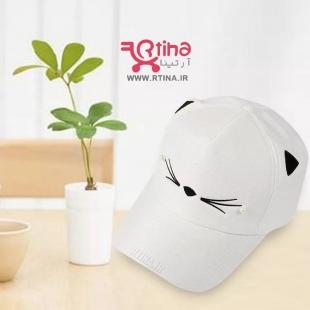کلاه کپ سفید دخترانه