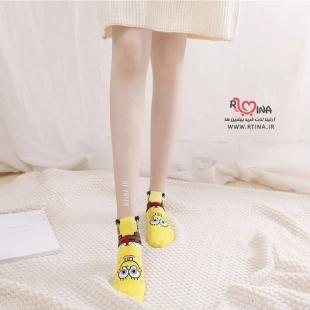 جوراب زنانه عروسکی ساق کوتاه مدل w34