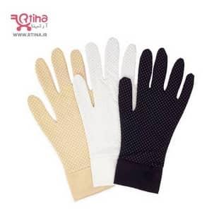 قیمت دستکش پارچه ای سفید و کرم جدید