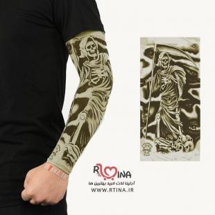 ساق دست اسپرت با طرح تاتو مدل اسکلت