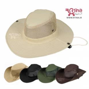 کلاه زنانه و مردانه آفتابی لبه دار تاشو با شبکه تنفسی