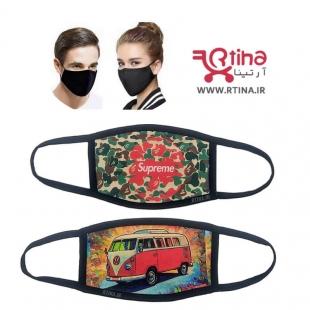 ماسک مشکی اسپرت پارچه ای مدل تاکتیکی