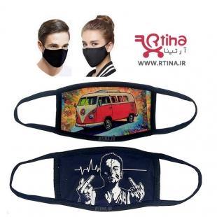 ماسک زنانه و مردانه طرح red car