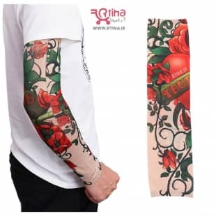 ساق دست اسپرت دخترانه و پسرانه تتو مدل Rose Flower