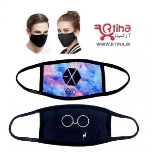 ماسک بهداشتی پارچه ای طرح exo3