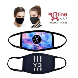 ماسک پارچه ای سیاه طرح Exo5