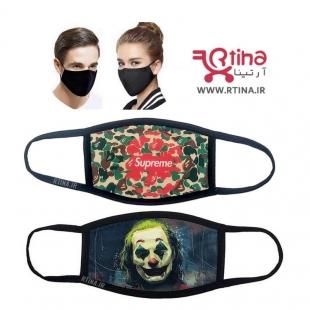 ماسک دهنی جوکر طرح نظامی چریکی