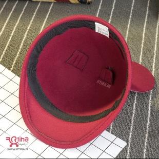 کلاه نقاب دار کوتاه پشمی زرشکی