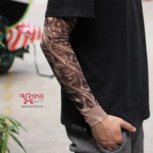 ساق بند دست طرح تاتو مدل جمجمه