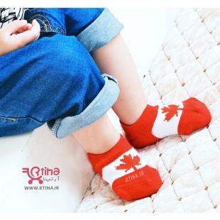 جوراب پرچم کانادا کودک