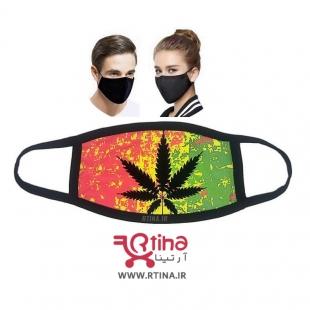 ماسک پارچه ای رنگی مدل Marijuana