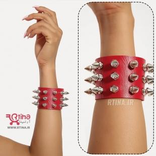 خرید دستبند چرم قرمز