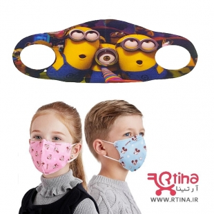 ماسک پارچه ایی بچه گانه طرح Minions