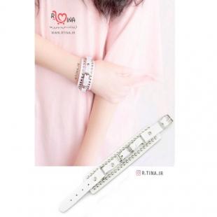 عکس دستبند زنانه شیک چرمی