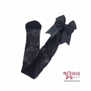 جوراب بلند مجلسی زنانه زنبوری پاپیونی