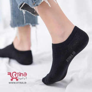 مدل جوراب زنانه ساده مشکی برای کفش کالج