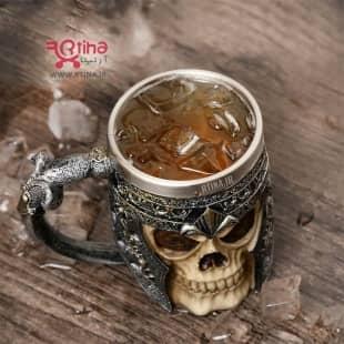 ماگ اسکلتی نوشیدنی و قهوه مدل Viking